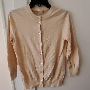 J Crew Factory cotton Clare cardigan sweater M